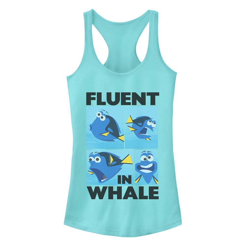 Juniors Disney/Pixar Finding Dory Fluent In Whale Racerback Tank