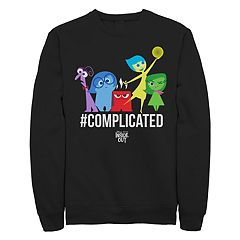 Junior's Disney/Pixar Inside Out Hashtag Complicated Crew Fleece
