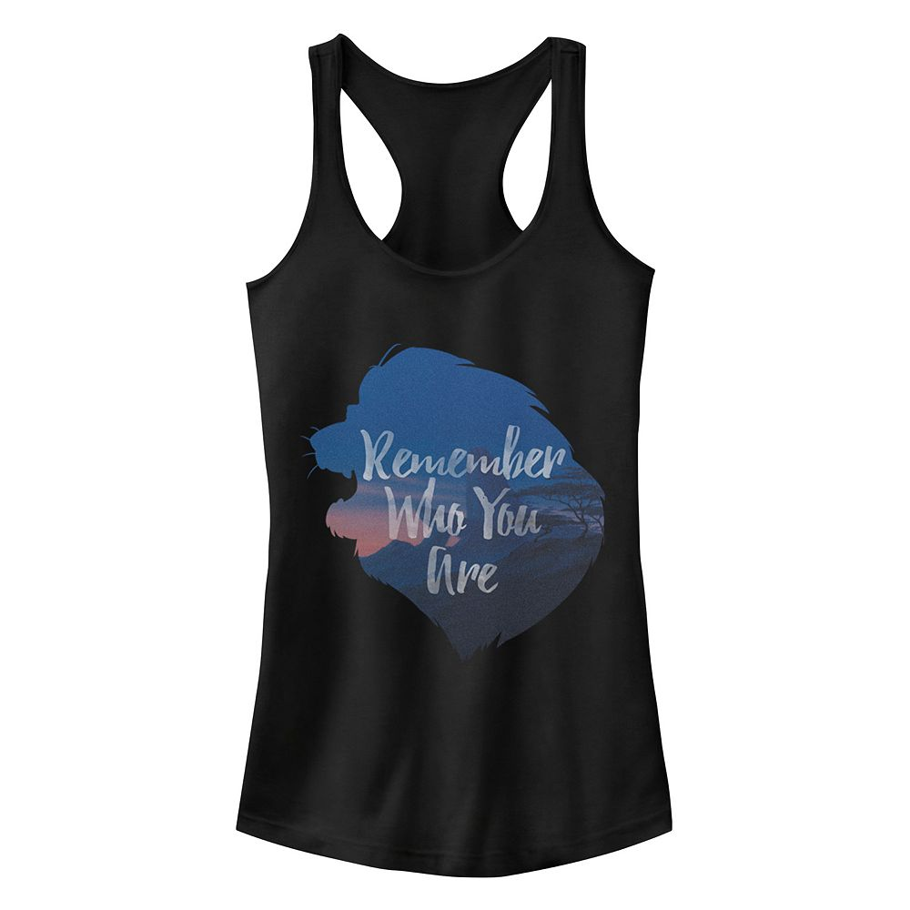 Junior's Disney's The Lion King Quote Silhouette Ideal Racerback Tank