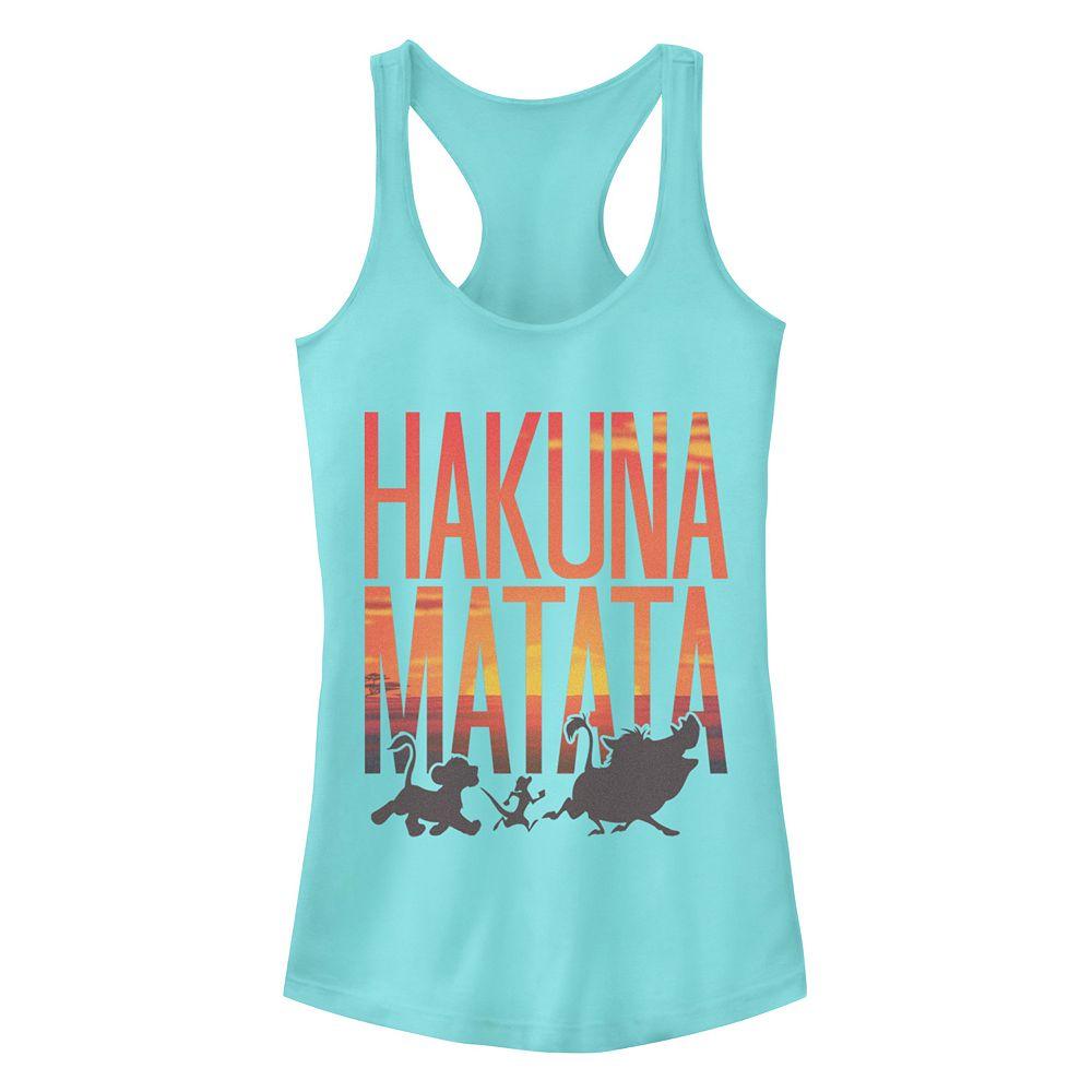 Junior's Disney's The Lion King Sunset Hakuna Matata Racerback Tank