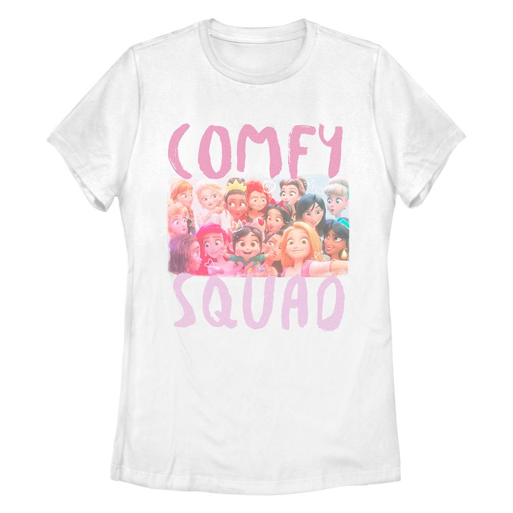 Juniors' Disney Princess Happy Comfy Squad Missy Crew