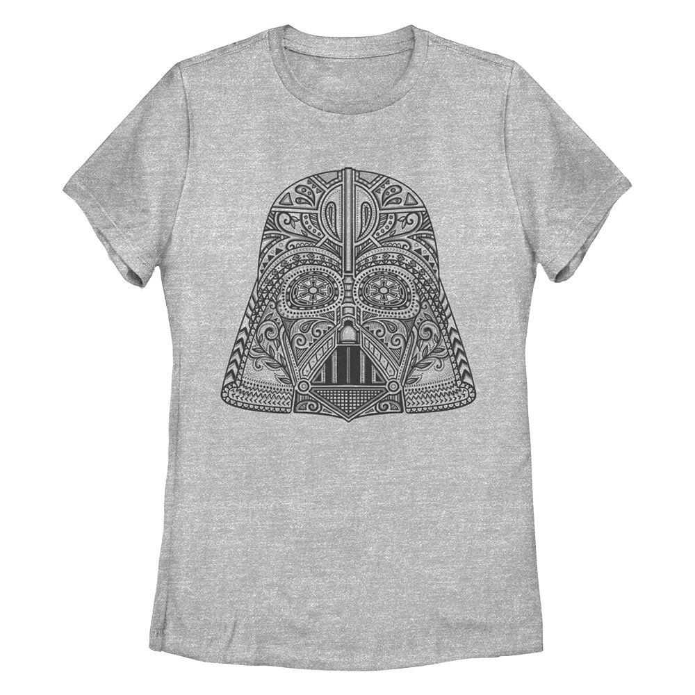 Juniors' Star Wars Darth Vader Henna Pattern Missy Crew Tee