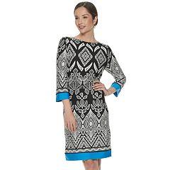 3995dc7950d Women's Croft & Barrow® Geo Print Shift Dress. Aqua Floral Blush Floral Blue  ...