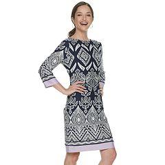 Women's Croft & Barrow® Geo Print Shift Dress