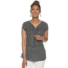 b41d610f Front Roll-Tab Shirt. (60) · Women's Croft & Barrow® Pleated Yoke Top