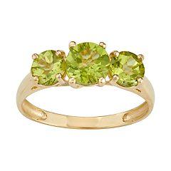 10k Gold 3-Stone Ring