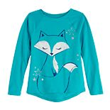 Girls 4-12 Jumping Beans® Graphic Long-Sleeve Raglan Tee