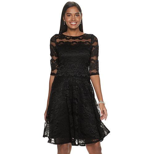 Petite Chaya Lace Fit & Flare Dress
