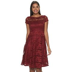 Womens Chaya Short Sleeve Lace Dress