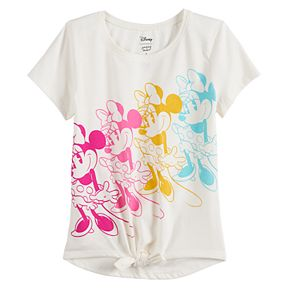 Disney's Minnie Mouse Girls 4-12 Knot-Front Graphic Tee by Jumping Beans®