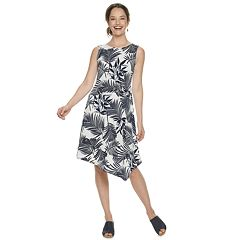 Petite Dana Buchman Print Asymmetrical Dress