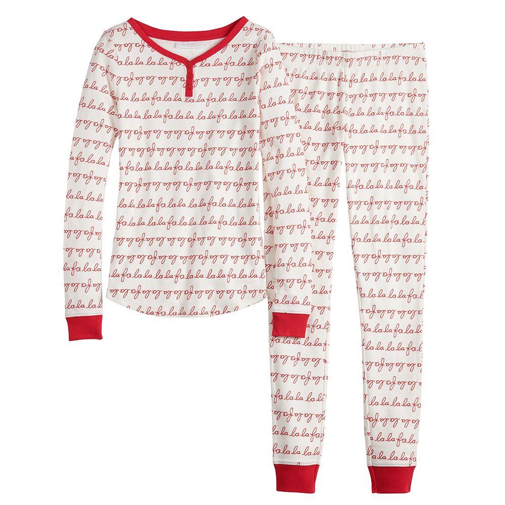 Girls 4-16 LC Lauren Conrad Jammies For Your Families® Fa La La Top & Bottoms Pajama Set