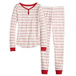 Girls 4-16 LC Lauren Conrad Jammies For Your Families Fa La La Top & Bottoms Pajama Set
