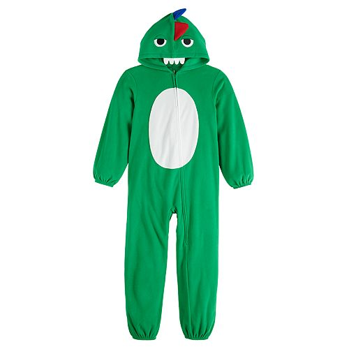 Kids 4-20 Jammies For Your Families Dino Family Microfleece One-Piece Pajamas