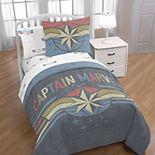 Captain Marvel Comforter & Pillowcase Set