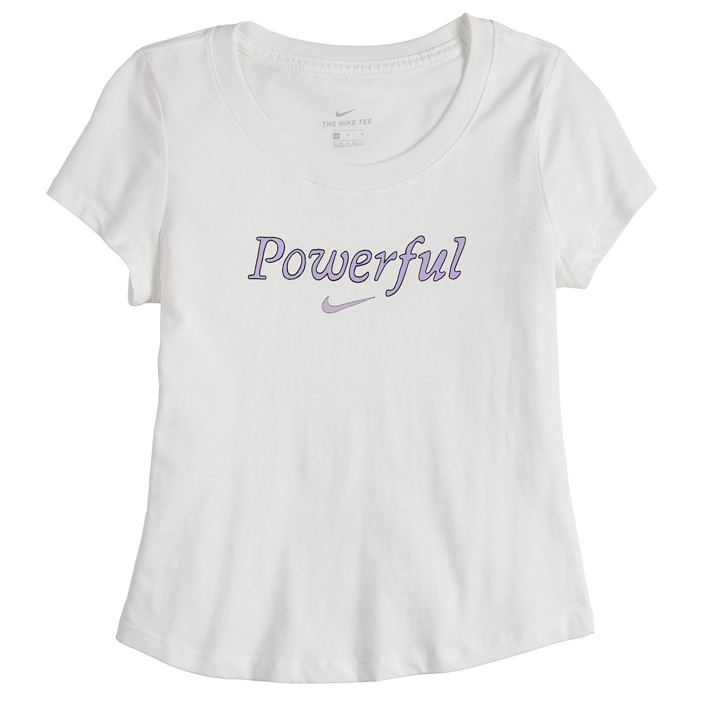 "Girls 7-16 Nike ""Powerful"" Graphic Tee"