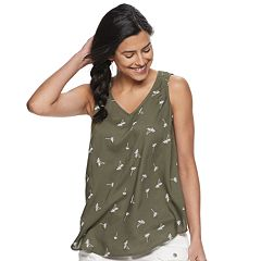f754810582fa69 Womens Green Shirts & Blouses - Tops, Clothing | Kohl's