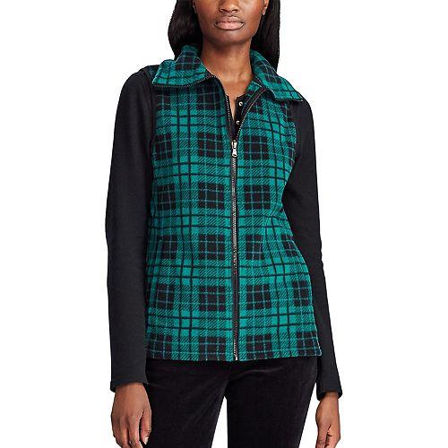 Women's Chaps Plaid Fleece Vest