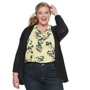 Plus Size EVRI Open Front Cardigan