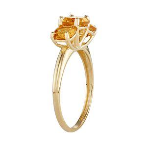 10k Gold 3-Stone Cushion Ring
