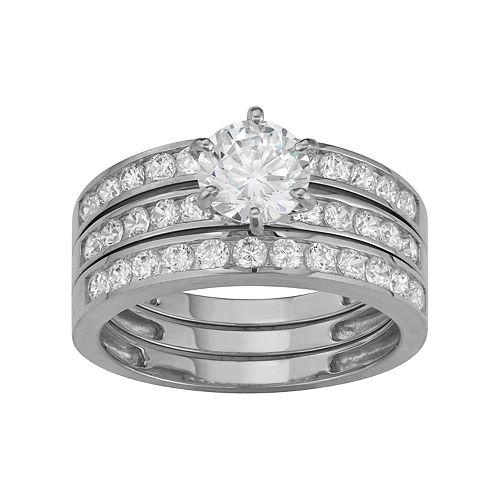 10k Gold 3-Piece Engagement Ring Set