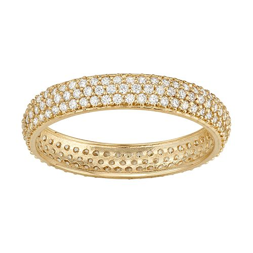 10k Gold Cubic Zirconia Pave Band