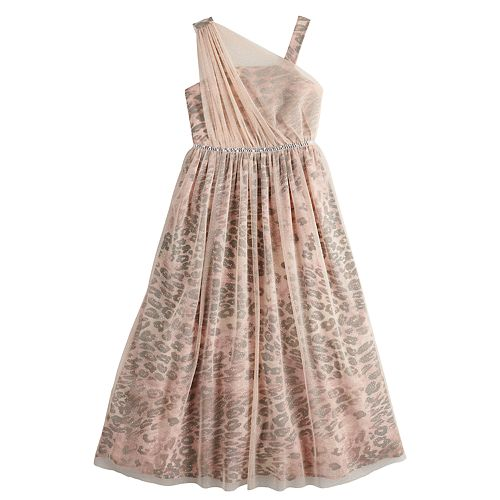 Girls 7-16 My Michelle Asymmetrical Maxi Dress
