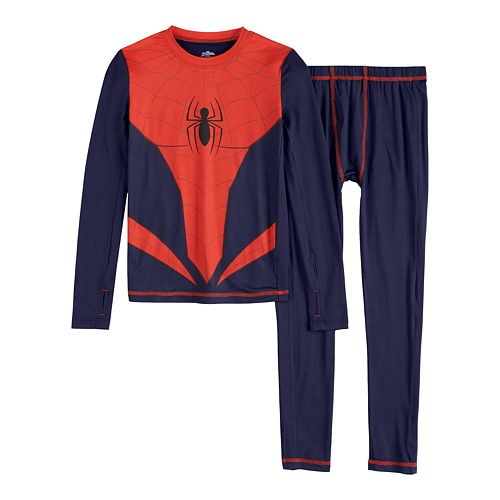 Boys 4-14 Cuddl Duds® Marvel Spider-Man Base Layer Set