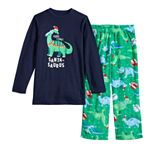 Boys 4-20 Jammies For Your Families Dino Family Tee & Pants Pajama Set