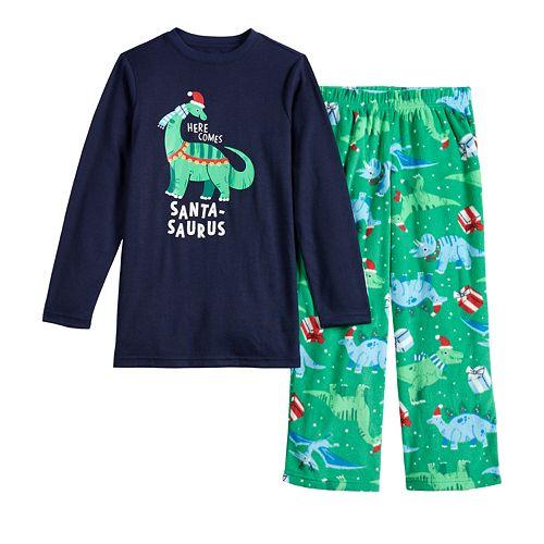 Boys 4-20 Jammies For Your Families® Dino Family Tee & Pants Pajama Set