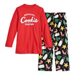 Boys 4-20 Jammies For Your Families Milk & Cookies Family Tee & Pants Pajama Set
