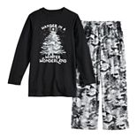 Boys 4-20 Jammies For Your Families Camo Family Tee & Pants Pajama Set