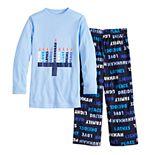 Boys 4-20 Jammies For Your Families Hanukkah Family Tee & Pants Pajama Set