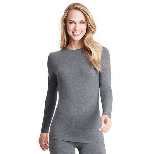 Women's Cuddl Duds® Softwear with Stretch Ribbed Long Sleeve Crew