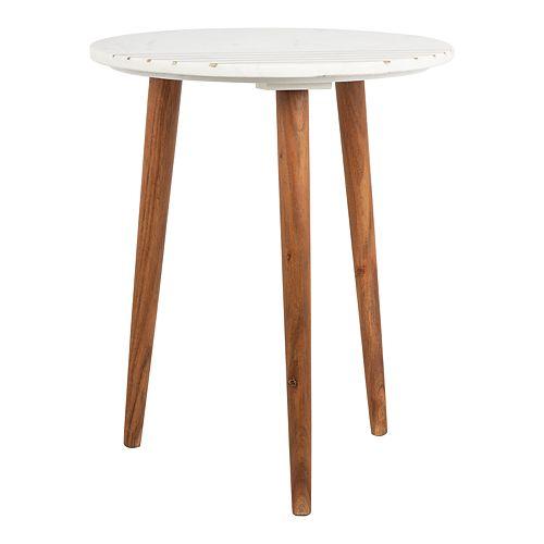 Safavieh Valerie Round Marble Accent Table