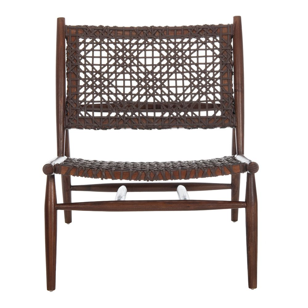 Safavieh Bandelier Leather Weave Accent Chair