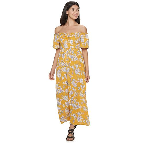 Juniors' Live To Be Spoiled Smocked Maxi Dress