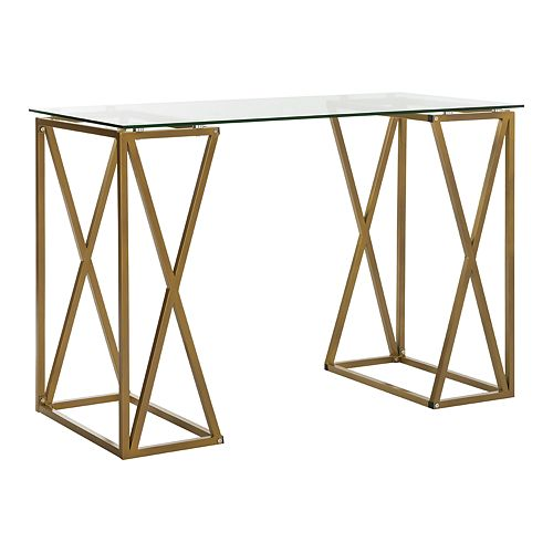 Safavieh Theresa Glass Top Desk
