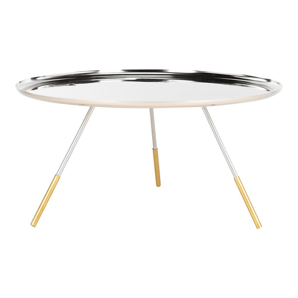 Safavieh Orson Coffee Table With Metal Gold Cap