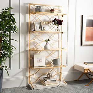 Safavieh Spano Glass 4-Tier Marble Base Etagere