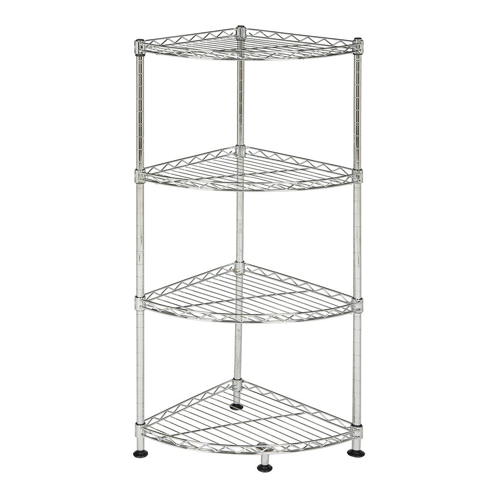 Safavieh Damaris 4-Tier Chrome Wire Corner Rack