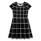 Girls 7-16 My Michelle Short Sleeve Sweater Dress