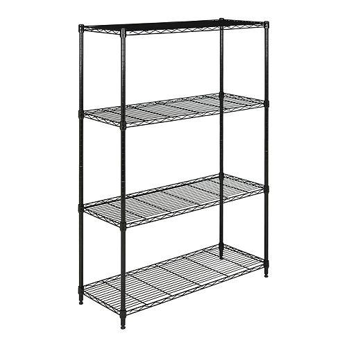 Safavieh Delta 4-Tier Chrome Wire Shelf