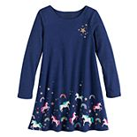 Girls 4-12 Jumping Beans® Unicorn Swing Dress