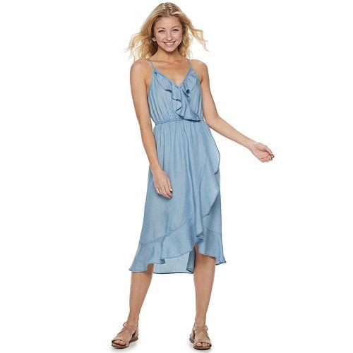 Juniors' Candie's® Tencel Ruffle Maxi Dress