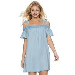 Junior's Candie's® Embroidered Marilyn Dress