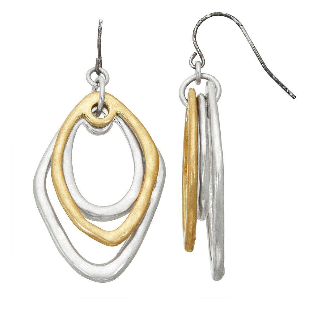 Bella Uno Two-Tone Drop Earrings