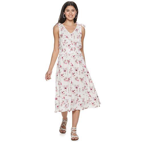 Juniors' American Rag Tie Shoulder Maxi Dress