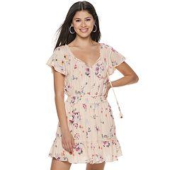 Juniors' American Rag Peasant Dress