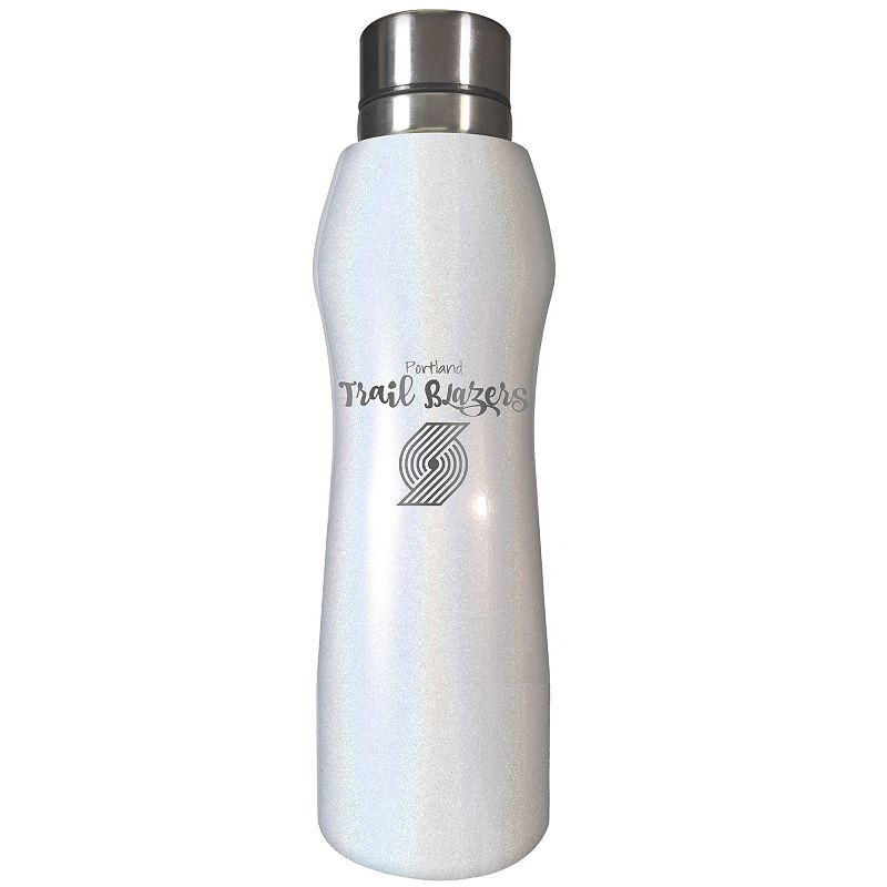 Portland Trail Blazers Hydration Water Bottle, White